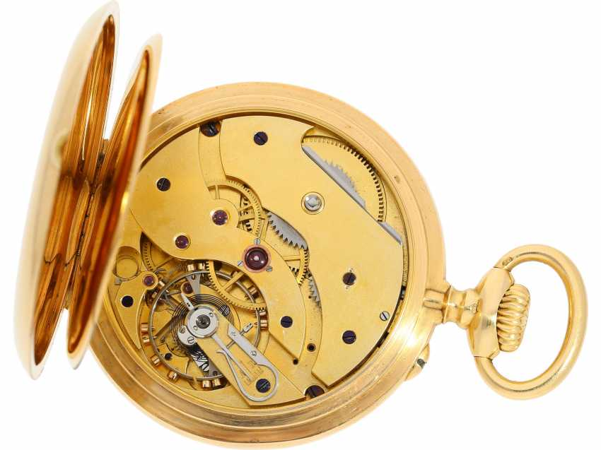 Pocket watch: a single and well-known Alexandre Hüning Observatory Chronometer special quality with design characteristics similar to the Potter-Chronometer, No. 16918, tested at the Geneva Observatory in 1900, with a Chronometer test certificate - photo 4