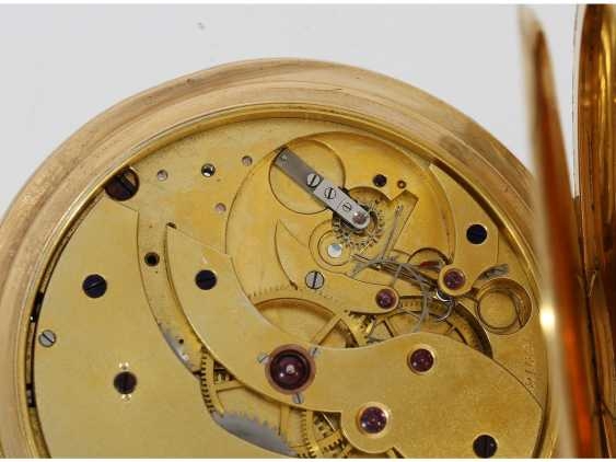 Pocket watch: a single and well-known Alexandre Hüning Observatory Chronometer special quality with design characteristics similar to the Potter-Chronometer, No. 16918, tested at the Geneva Observatory in 1900, with a Chronometer test certificate - photo 10