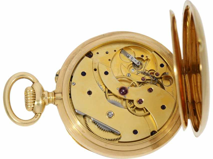 Pocket watch: a single and well-known Alexandre Hüning Observatory Chronometer special quality with design characteristics similar to the Potter-Chronometer, No. 16918, tested at the Geneva Observatory in 1900, with a Chronometer test certificate - photo 11