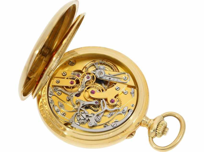 Taschenuhr: exquisites Vacheron & Constantin Ankerchronometer mit Chronograph, Doppelsignatur, Originalbox, fantastischer, neuwertiger Zustand, ca. 1920 - Foto 2