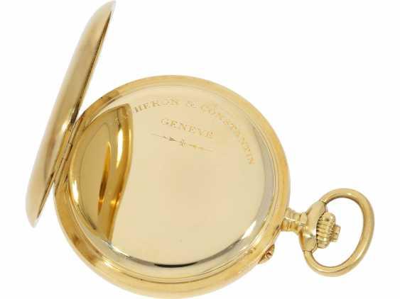Taschenuhr: exquisites Vacheron & Constantin Ankerchronometer mit Chronograph, Doppelsignatur, Originalbox, fantastischer, neuwertiger Zustand, ca. 1920 - Foto 5