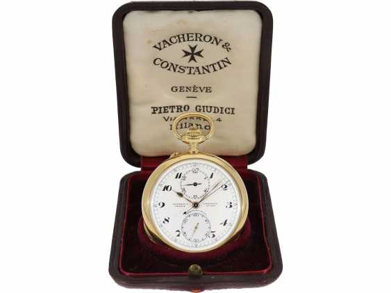 Taschenuhr: exquisites Vacheron & Constantin Ankerchronometer mit Chronograph, Doppelsignatur, Originalbox, fantastischer, neuwertiger Zustand, ca. 1920 - Foto 8