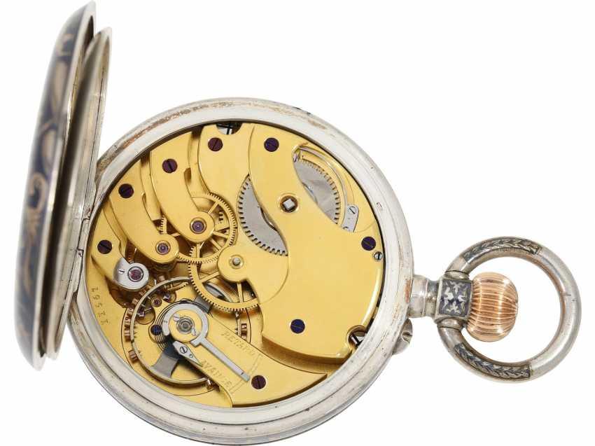 Taschenuhr: einziges uns bekanntes Ulysse Nardin Observatoriumsschronometer mit Niello-Dekoration, Originalbox, Chronometerzertifikat Observatorium Neuchatel 1907 sowie interessantes, handschriftliches Begleitschreiben - Foto 2