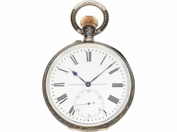 Taschenuhr: einziges uns bekanntes Ulysse Nardin Observatoriumsschronometer mit Niello-Dekoration, Originalbox, Chronometerzertifikat Observatorium Neuchatel 1907 sowie interessantes, handschriftliches Begleitschreiben - Foto 5