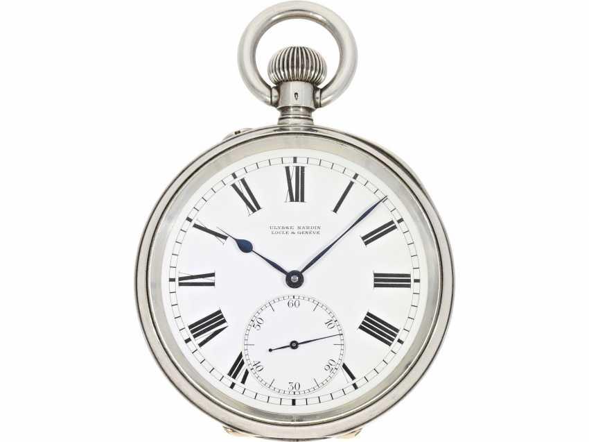 Pocket watch/Chronometer: rare and well-preserved Ulysse Nardin Observation chronometer, marine chronometer, CA. 1918, Ulysse Nardin prospectus - photo 1