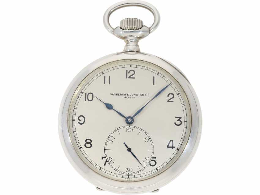 Pocket watch: heavy, almost new Observation chronometer, Vacheron & Constantin, Geneve, CA. 1943 - photo 1