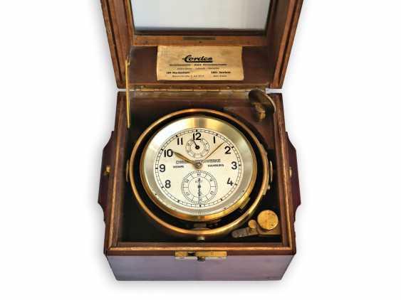 Marine chronometer: a very well-preserved, high-quality marine chronometer, Wempe Hamburg/Grießbach Glashütte No. 6727, 1958 - photo 1