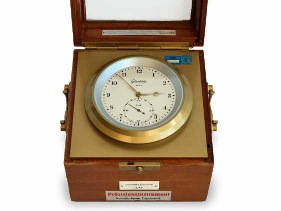 Marine chronometer: rare glashütte Chronometer, by VEB glashütter uhrenbetriebe Glashütte/Sa., Caliber 71 Quartz Marine Chronometers, 1975-1990 - photo 1