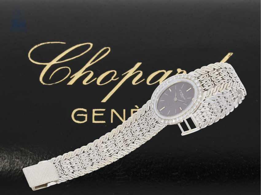 Los 5135. Armbanduhr: luxuriöse weißgoldene vintage Damenuhr