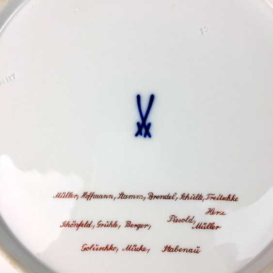 Gerhard Schiffner for the state porcelain manufactory Meissen honorary gift plate reconstruction Meissen 1946, rare. - photo 3