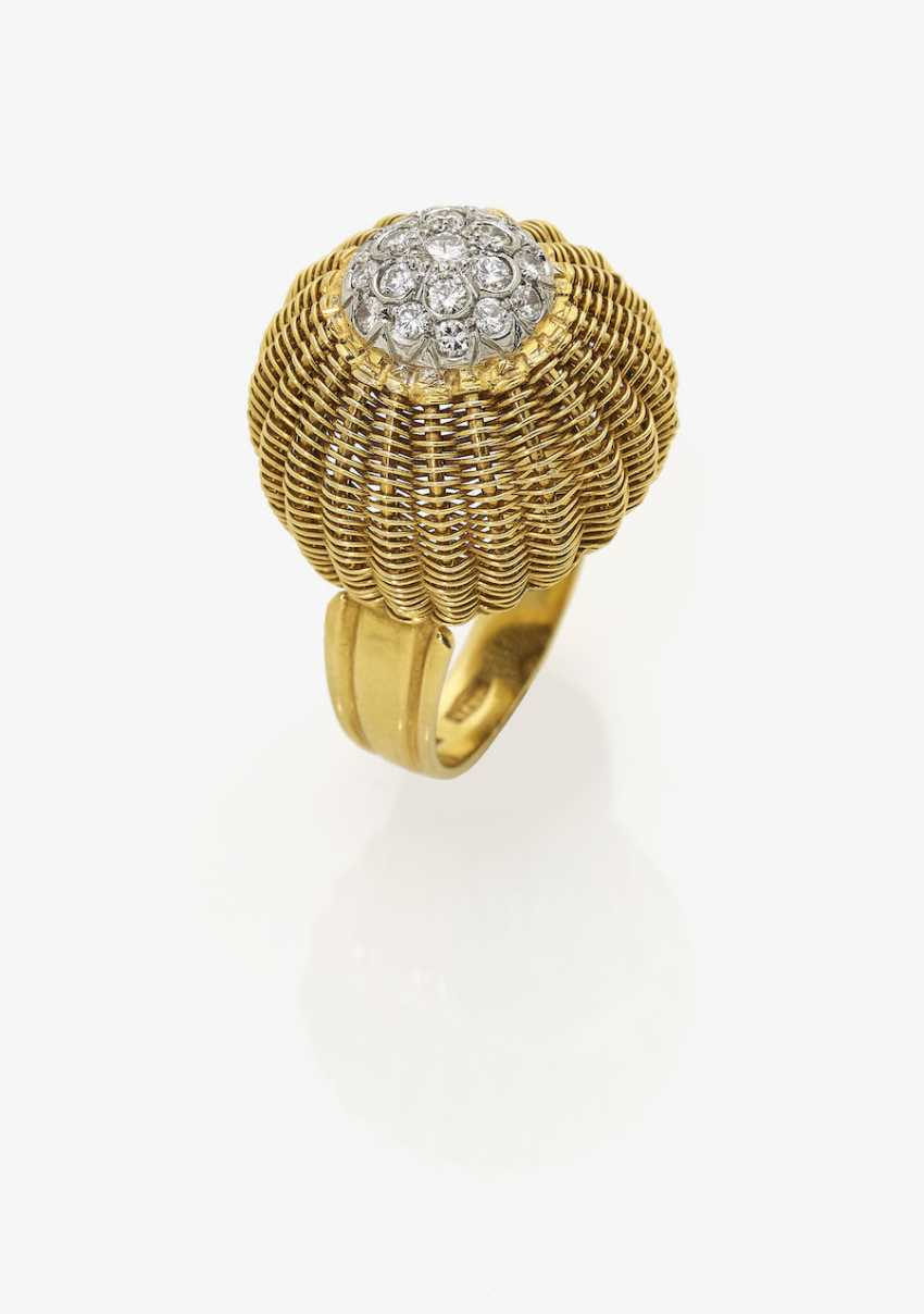 Cocktail ring with brilliant-cut diamonds. USA, 1950s - photo 1