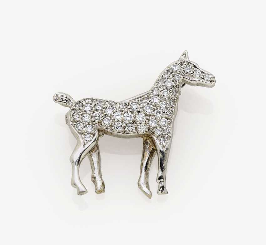 Brooch in the Form of a horse. USA, 1970s - photo 1