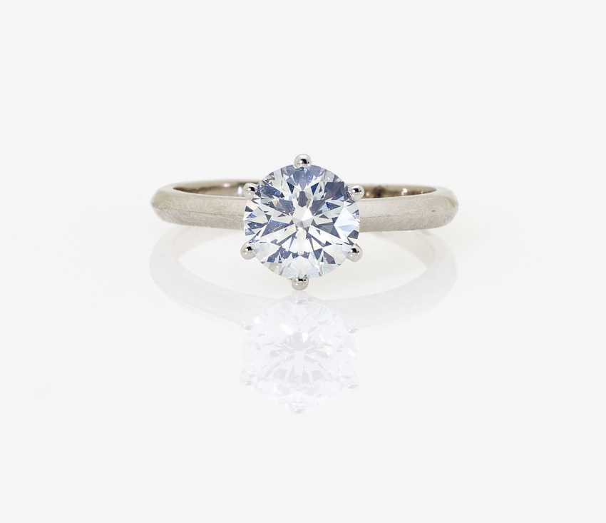 Solitaire-Brilliant Ring. Paris, 2015, GALLERY of the DIAMOND - photo 1