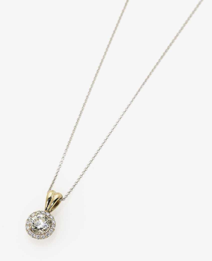 Pendant necklace with diamonds. Paris, 2019, GALLERY of the DIAMOND - photo 1