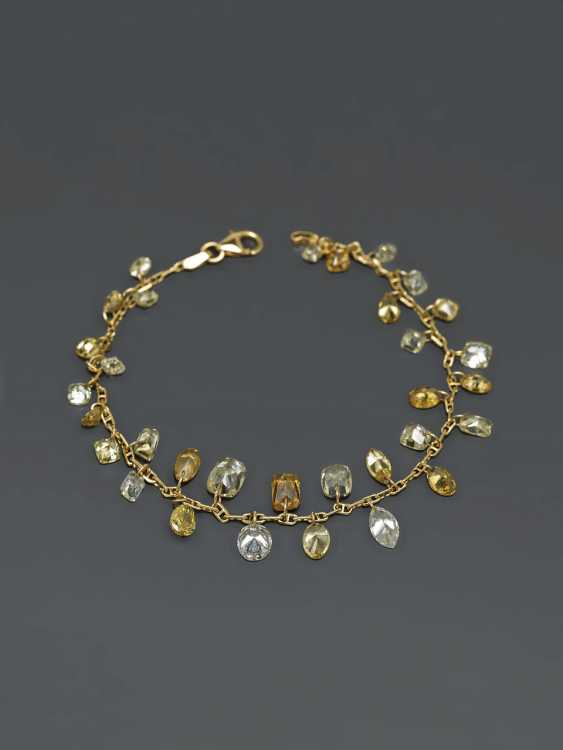 Extraordinary bracelet with natural colored diamonds. Paris, to 2015, GALLERY of the DIAMOND - photo 2