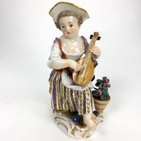 Gardener's child, the porcelain manufactory Meissen, design Kaendler, 1860, 1. Choice, very well. - photo 1
