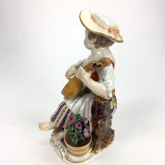 Gardener's child, the porcelain manufactory Meissen, design Kaendler, 1860, 1. Choice, very well. - photo 2