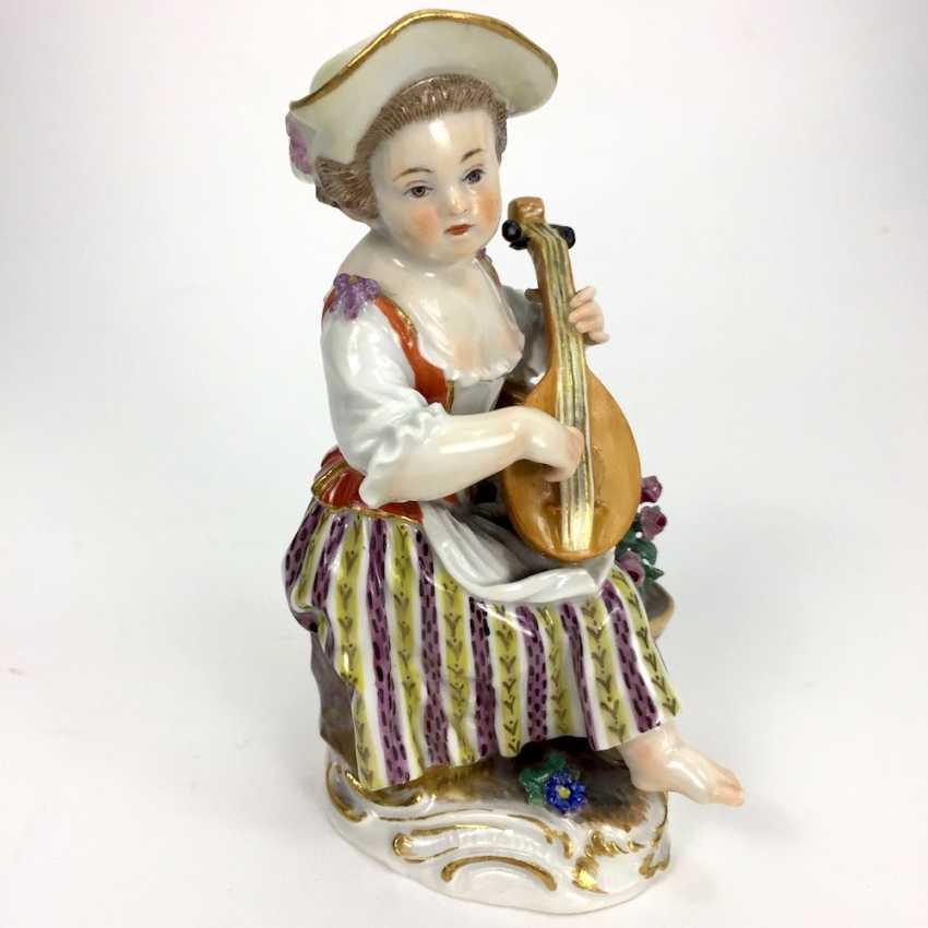 Gardener's child, the porcelain manufactory Meissen, design Kaendler, 1860, 1. Choice, very well. - photo 4