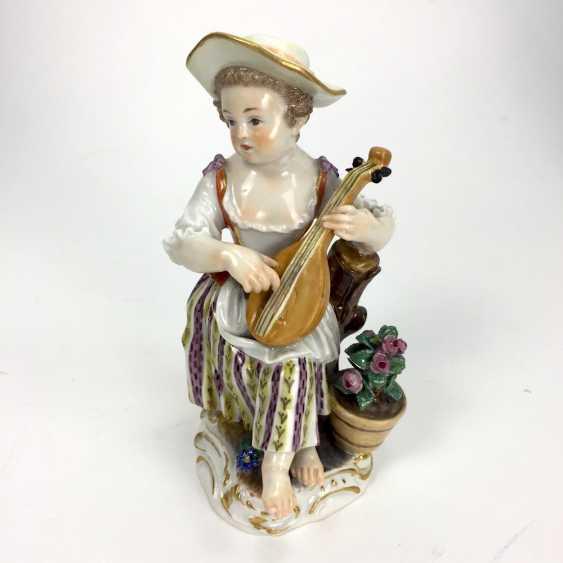 Gardener's child, the porcelain manufactory Meissen, design Kaendler, 1860, 1. Choice, very well. - photo 5