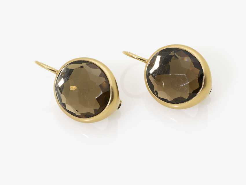 A Pair of earrings with smoky quartz. Italy, POMELLATO - photo 1