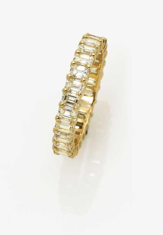 Memory ring with diamonds. Belgium, 2000s - photo 1