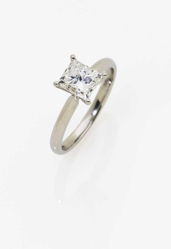 Solitaire diamond ring in Princess Cut. Paris, 2019, GALLERY of the DIAMOND - photo 1