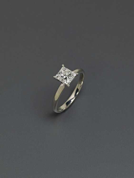 Solitaire diamond ring in Princess Cut. Paris, 2019, GALLERY of the DIAMOND - photo 2