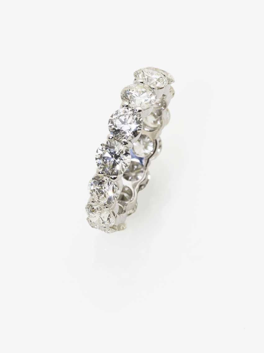 Memory ring with brilliants. Paris, 2015, GALLERY of the DIAMOND - photo 1