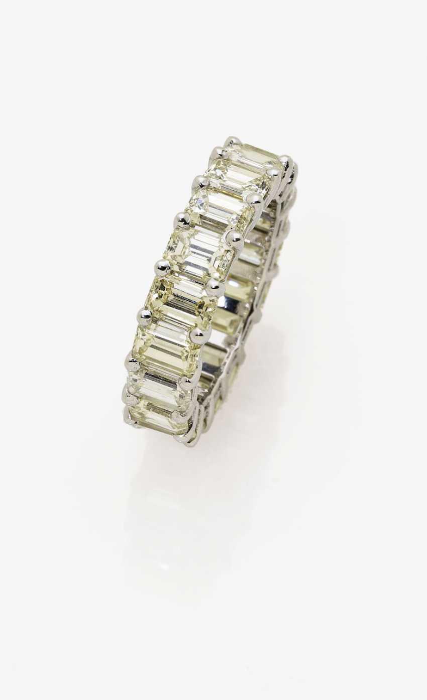 Memory ring with diamonds. Paris, 2015, GALLERY of the DIAMOND - photo 1