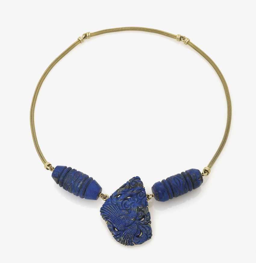 Chain with lapis lazuli pendants. Germany - photo 1