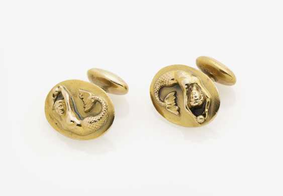 A Pair of cufflinks with astrological sign Virgo. USA, 1940s - photo 1
