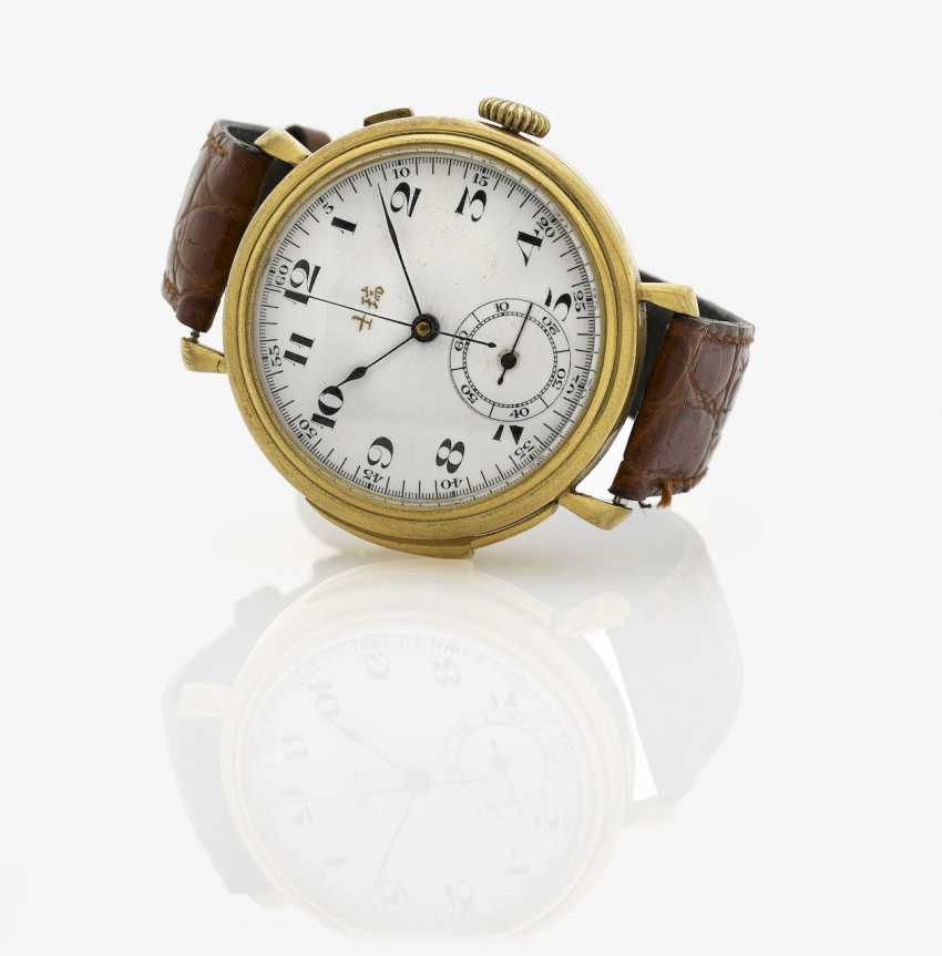 Men's wristwatch with minute repeater and Chronograph, made for the Chinese market. Switzerland, 1920s - photo 1