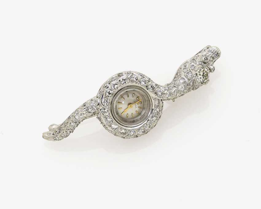 Brooch watch in the Form of a snake. Switzerland, 1950s, OMEGA - photo 1