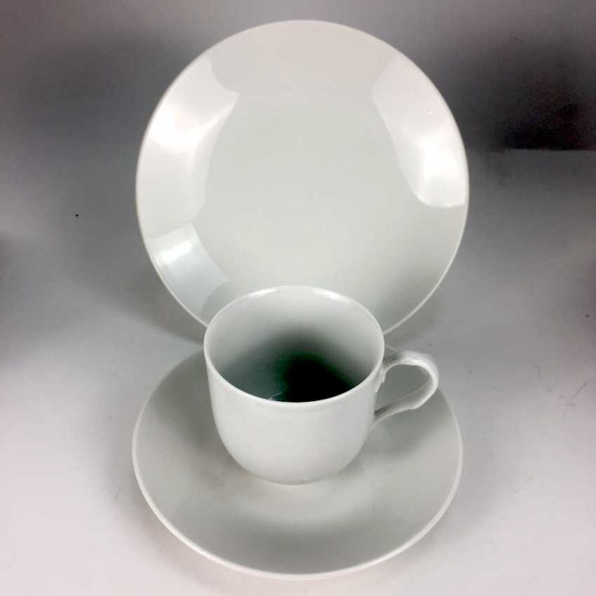 Place setting white, Meissen porcelain, Smooth shape, very good. - photo 1