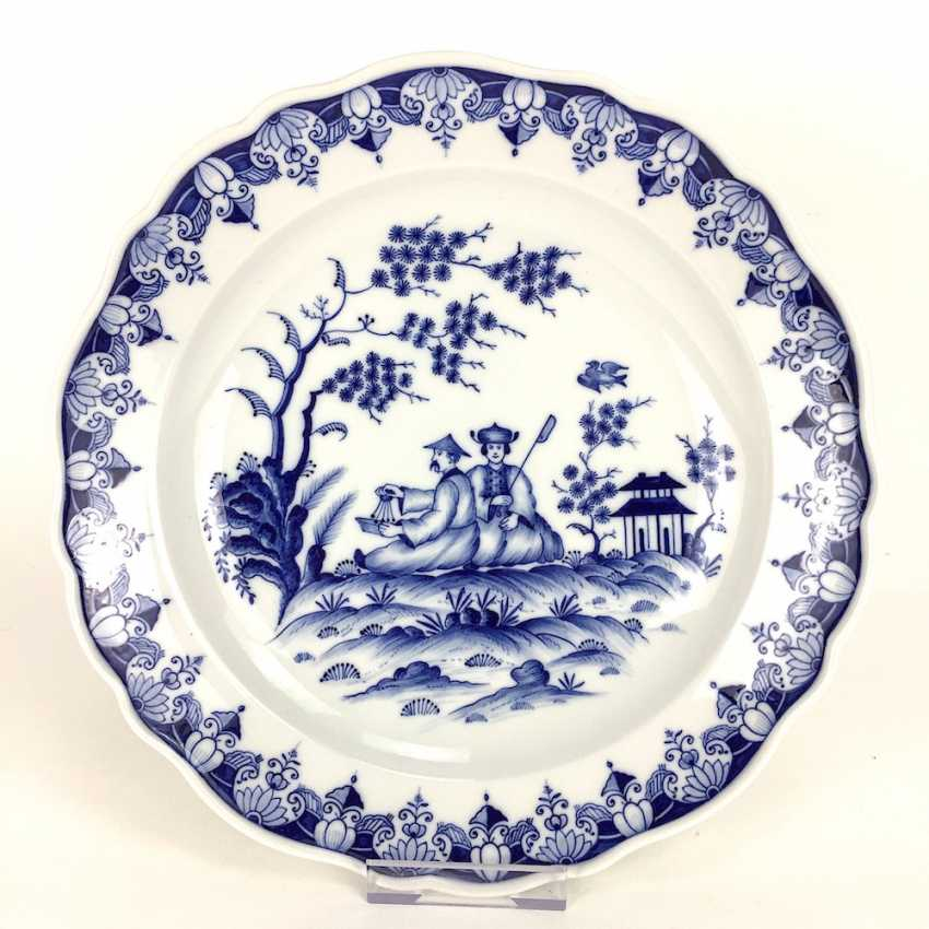 Large Wall Plate: Meissen Porcelain, Decor, China Blue, 19. Century, very good. - photo 1