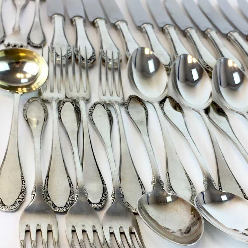 Elegant table Cutlery for 12 persons, silver 800, Gebrüder Reiner silver flatware factory Krumbach, art Nouveau, very well. - photo 4