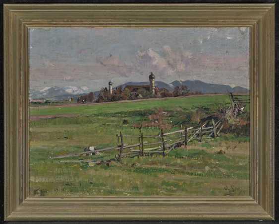 Pre-Alpine landscape with view of a village - photo 2