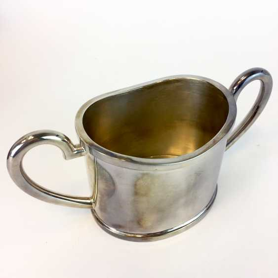 Elegant sugar bowl: silver 925 / Sterling, handcrafted, F. Edzard GmbH & co. KG, Bremen, is in top physical condition. - photo 2