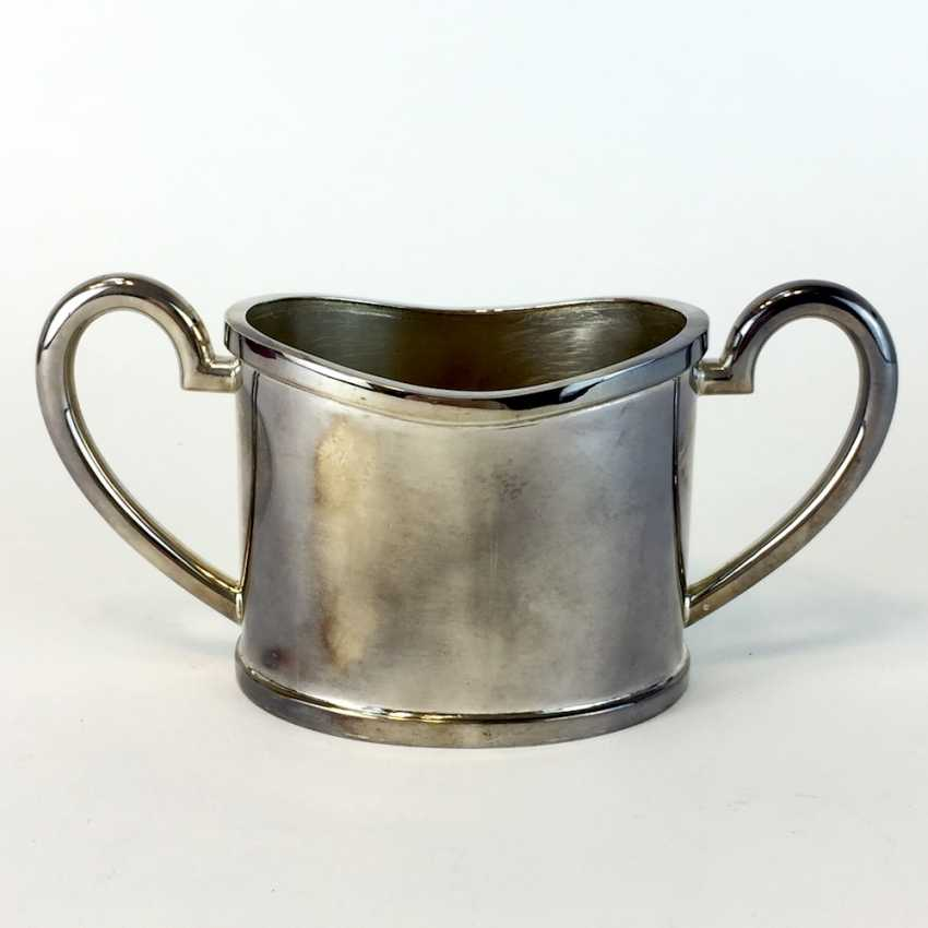 Elegant sugar bowl: silver 925 / Sterling, handcrafted, F. Edzard GmbH & co. KG, Bremen, is in top physical condition. - photo 3