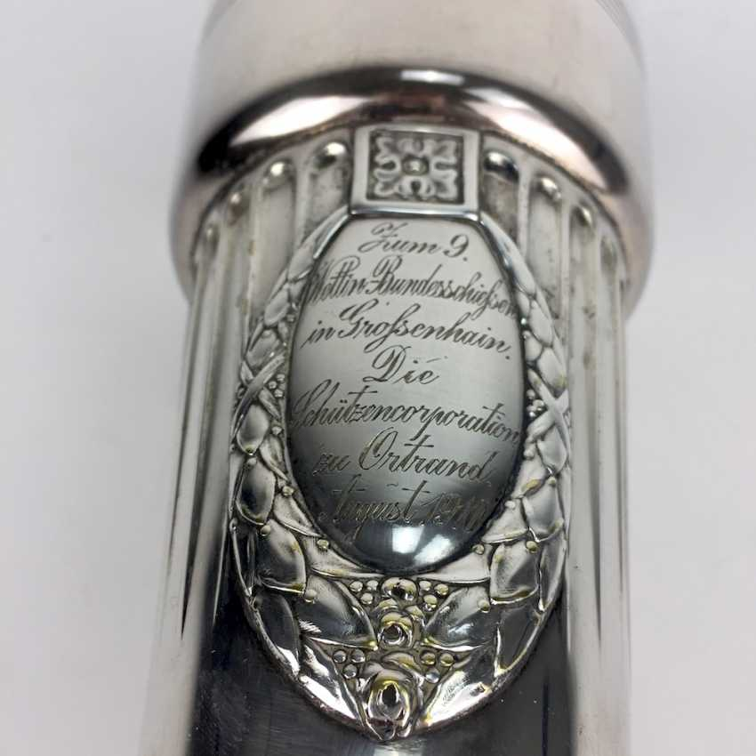 Art Nouveau PokaLänge: Wettin-the Federal shooting in big grove, August, 1910, silver plated, unique, very well. - photo 2
