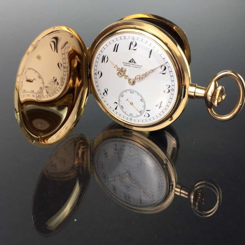 """German Precision Watch """"Glashütte Original"""": The Men's Pocket Watch / Watch In Yellow Gold 585, At The End Of 1923. Rebuilt in 2017 - photo 1"""