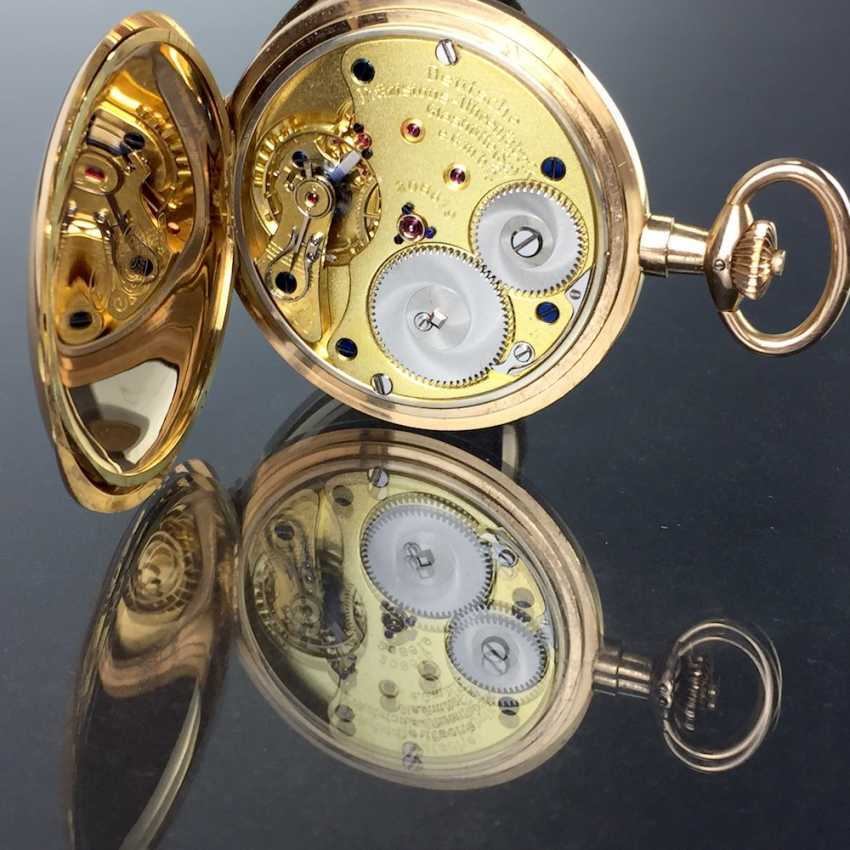 """German Precision Watch """"Glashütte Original"""": The Men's Pocket Watch / Watch In Yellow Gold 585, At The End Of 1923. Rebuilt in 2017 - photo 3"""