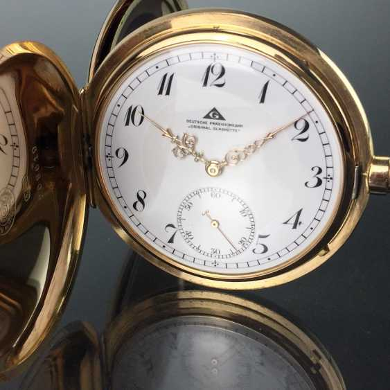 """German Precision Watch """"Glashütte Original"""": The Men's Pocket Watch / Watch In Yellow Gold 585, At The End Of 1923. Rebuilt in 2017 - photo 4"""