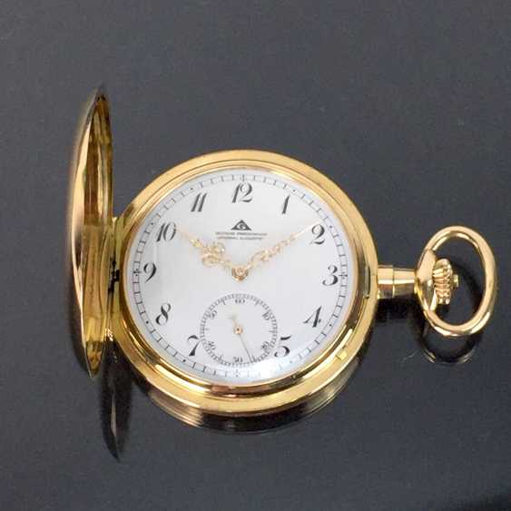 """German Precision Watch """"Glashütte Original"""": The Men's Pocket Watch / Watch In Yellow Gold 585, At The End Of 1923. Rebuilt in 2017 - photo 5"""