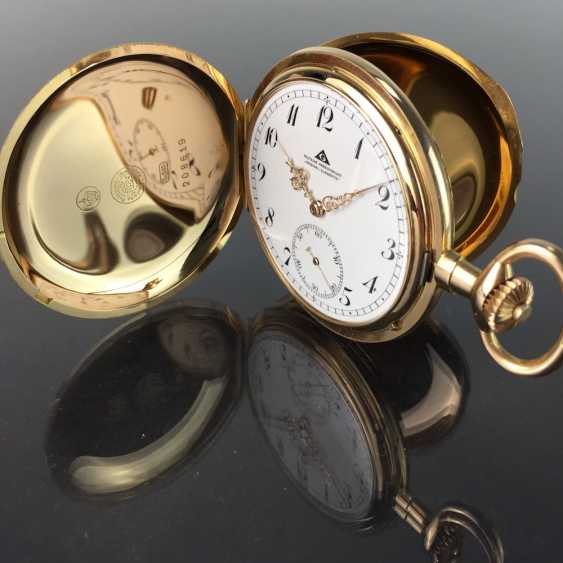 """German Precision Watch """"Glashütte Original"""": The Men's Pocket Watch / Watch In Yellow Gold 585, At The End Of 1923. Rebuilt in 2017 - photo 6"""