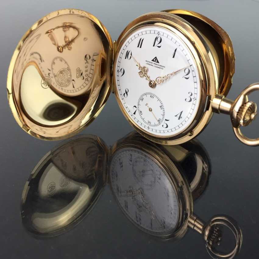 """German Precision Watch """"Glashütte Original"""": The Men's Pocket Watch / Watch In Yellow Gold 585, At The End Of 1923. Rebuilt in 2017 - photo 7"""