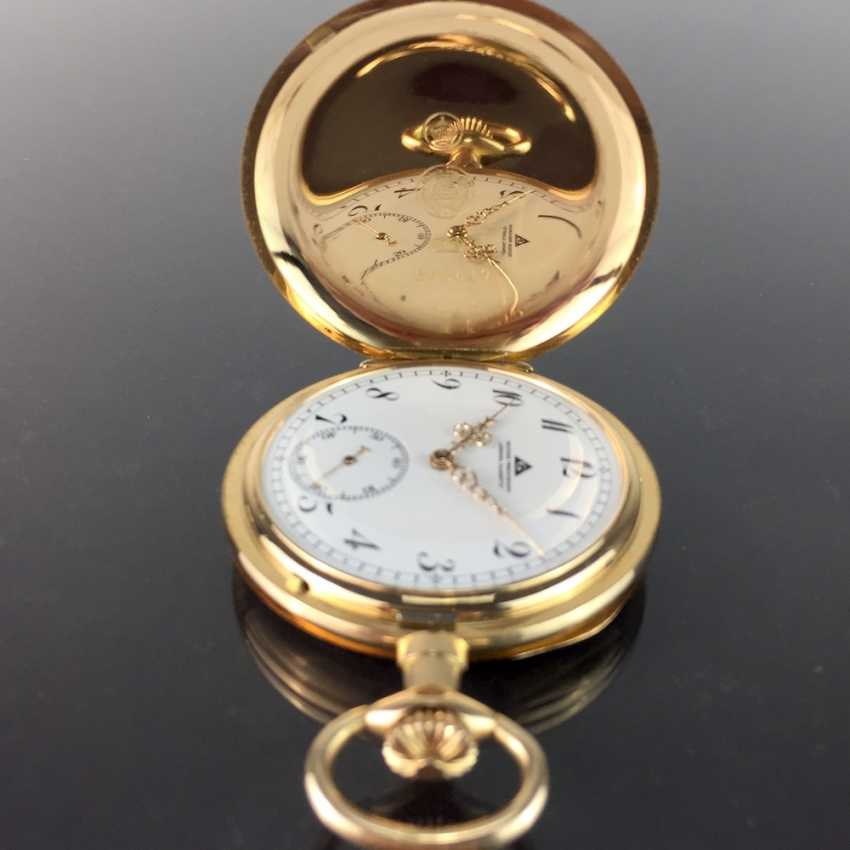 """German Precision Watch """"Glashütte Original"""": The Men's Pocket Watch / Watch In Yellow Gold 585, At The End Of 1923. Rebuilt in 2017 - photo 8"""