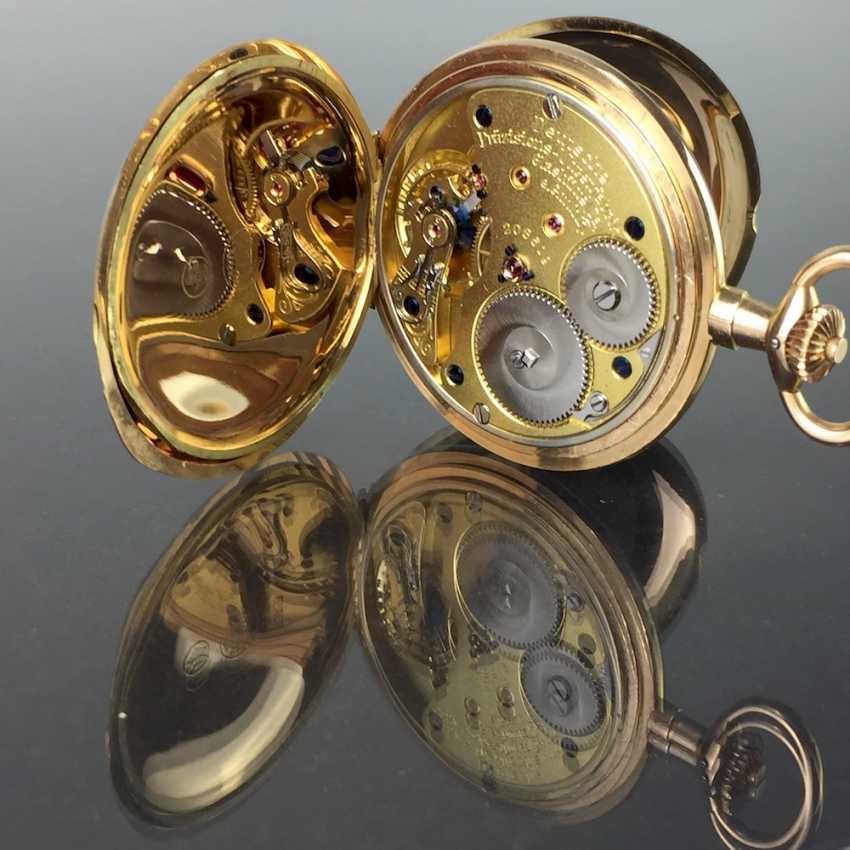 """German Precision Watch """"Glashütte Original"""": The Men's Pocket Watch / Watch In Yellow Gold 585, At The End Of 1923. Rebuilt in 2017 - photo 11"""
