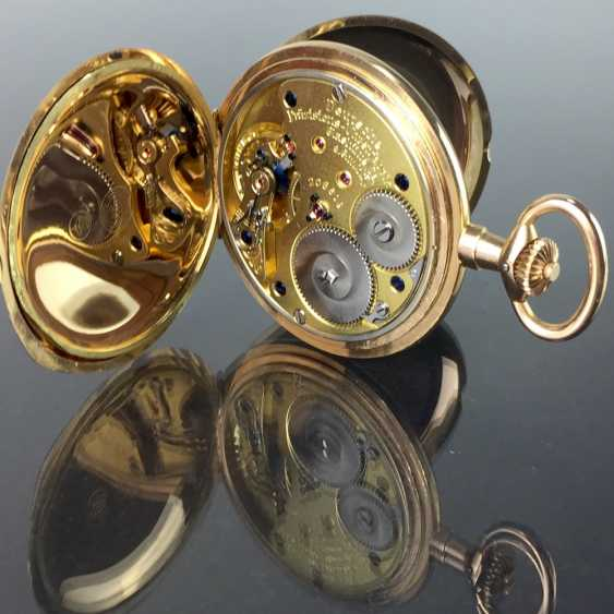 """German Precision Watch """"Glashütte Original"""": The Men's Pocket Watch / Watch In Yellow Gold 585, At The End Of 1923. Rebuilt in 2017 - photo 12"""