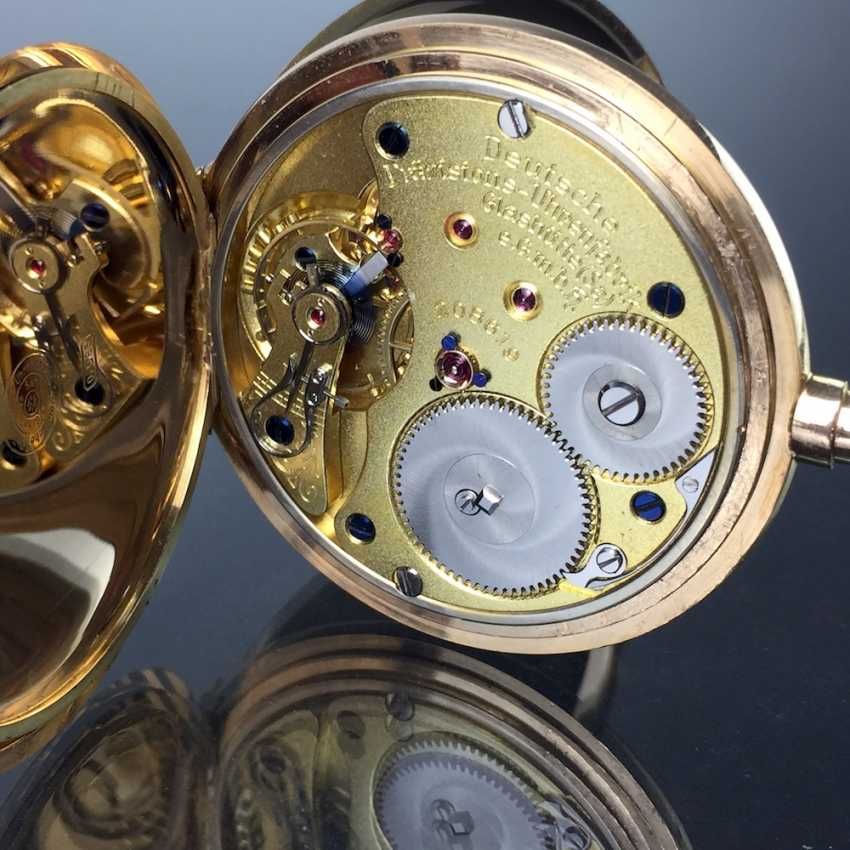 """German Precision Watch """"Glashütte Original"""": The Men's Pocket Watch / Watch In Yellow Gold 585, At The End Of 1923. Rebuilt in 2017 - photo 13"""